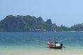 Boat at sai ree beach chumphon thailand Stock Image
