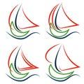 Boat sailboat logo