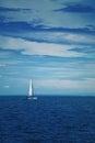Boat Sailing At Blue Sea