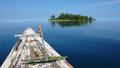 Boat sea and island at karimun jawa indonesia Royalty Free Stock Image
