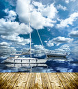 Boat on the sea at summer time with nice weather Royalty Free Stock Photos