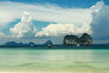 A boat in the sea at trang thailand Stock Photos