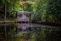 The boat shed at alfred nicholas gardens Stock Images