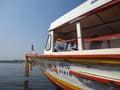 Boat ship river transportation thailand Royalty Free Stock Photo