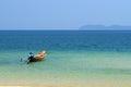Boat or ship sai ree beach chomporn thailand Royalty Free Stock Photography