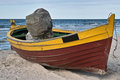 Boat on the shore. Stock Images