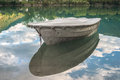 Boat on soca river beautiful day Royalty Free Stock Photo