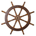 Boat steering wheel Royalty Free Stock Photo