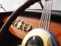 Boat steering wheel. Royalty Free Stock Photo