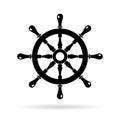 Boat steering wheel vector icon Royalty Free Stock Photo