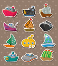 Boat stickers Stock Images