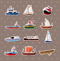 Boat stickers Stock Photography