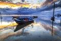 Boat at Tanjung aru beach, Labuan. Malaysia 21 Royalty Free Stock Photo