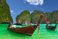Boat thailand beach phi phi island Royalty Free Stock Photo