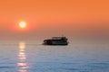 Boat tour in Lake Michigan Royalty Free Stock Photo