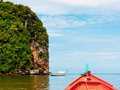 Boat travel in Thailand sea Royalty Free Stock Photo