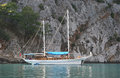 Boat trip around kemer antalya province turkey Royalty Free Stock Images