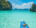 Boat trip in blue lagoon el nido palawan philippines Stock Image
