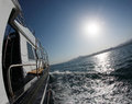 A boat trip on the high seas seascape clear sunny day Royalty Free Stock Images