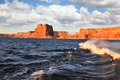 Boat trip on the picturesque Lake Powell Royalty Free Stock Photography