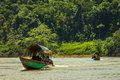 Boat on Usumacinta river Royalty Free Stock Photo