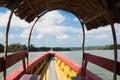 Boat on Usumacinta river, Mexico Royalty Free Stock Photo