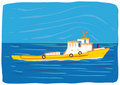 Boat (vector) Royalty Free Stock Photo
