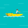 Boat vector illustration.