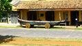 Boat on wheels galle sri lanka in fort Stock Photos