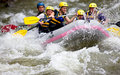 Boat whitewater rafting Royalty Free Stock Photo