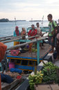 Boat wooden is a means of transportation in karimun islands central java indonesia Stock Photo