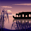 Boathouse,kerala Royalty Free Stock Photography