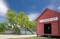 Boathouse at  Lake Wakatipu Royalty Free Stock Photo