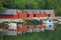Boathouse in Norway Royalty Free Stock Image