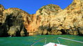 Boating on the algarve near lagos portugal Royalty Free Stock Photography