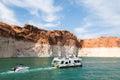 Boating on Lake Powell, Arizona Royalty Free Stock Photo