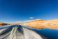 Boating at Lake Powell Royalty Free Stock Photo