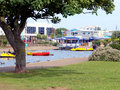 Boating lake skegness lincolnshire the tranquil on the seafront at england uk Royalty Free Stock Photo