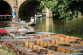 Boating In Punts On River Cherwell In Oxford Royalty Free Stock Photo
