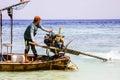 Boatman. Royalty Free Stock Photo