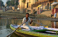 Boatman in Varanasi Royalty Free Stock Image