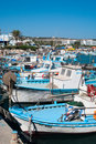 Boats in Agia-Napa harbor Stock Images