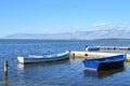 Boats in the bay of Nin, Croatia Royalty Free Stock Photo