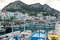 The boats in Capri harbour Royalty Free Stock Photo