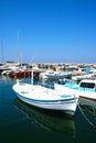 Boats in Chania harbour, Crete.