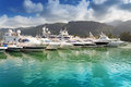 Boats at eden island seychelles mahe Royalty Free Stock Images