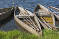 Boats with flat bottom of Pateira Royalty Free Stock Photo