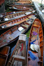 Boats On The Floating Market Royalty Free Stock Photography