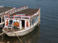 Boats in ganges holy river in varanasi city india Royalty Free Stock Photography