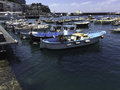 Boats in harbour of Capri Royalty Free Stock Photo